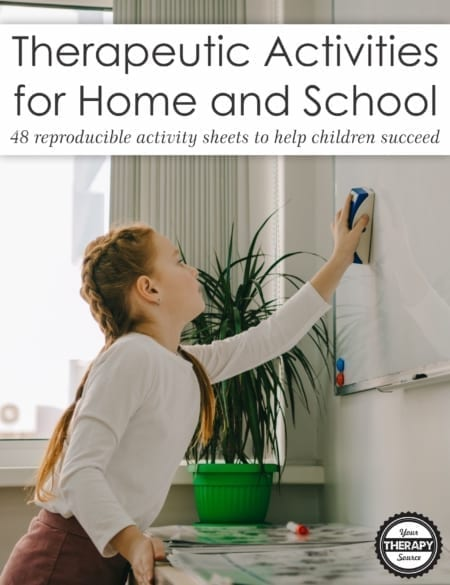 Therapeutic Activities for Home and School digital download provides pediatric therapists with over forty, uncomplicated, reproducible activity sheets and tips that can be given to parents and teachers.