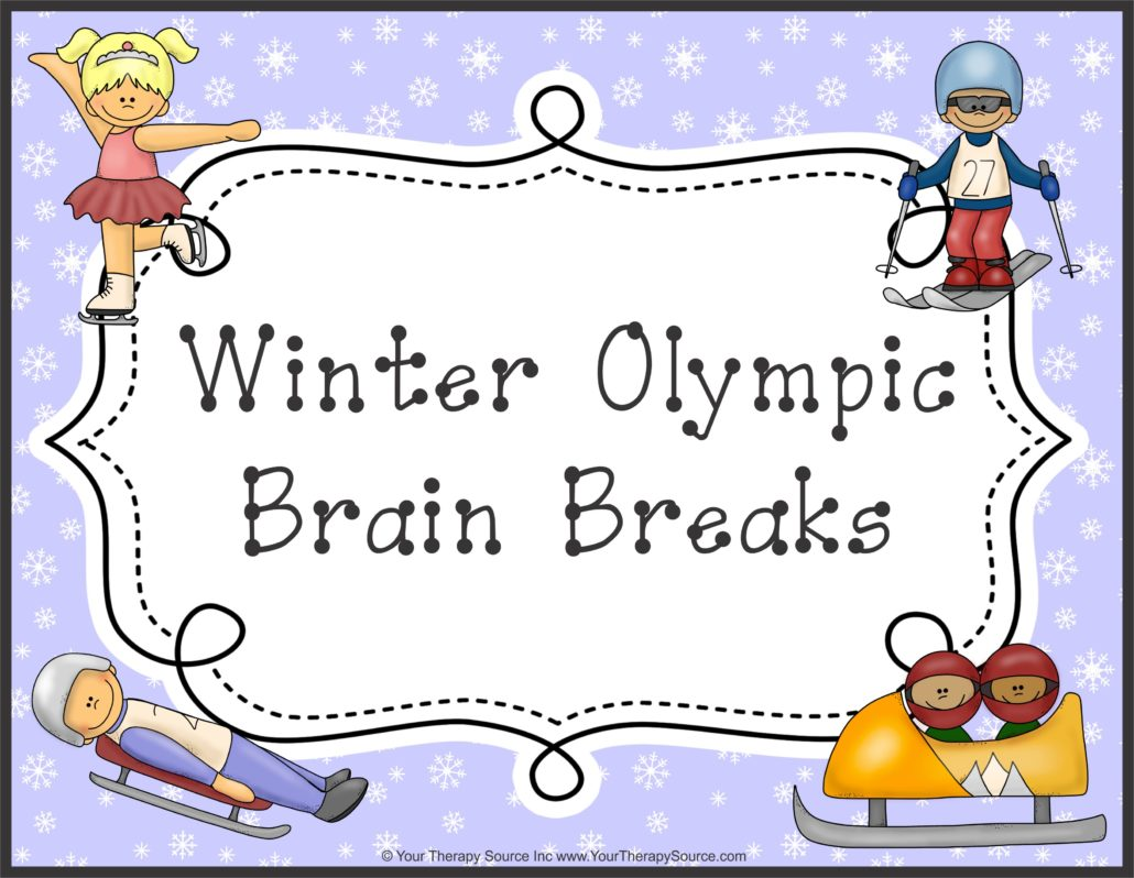 10 free winter olympic brain break ideas - your therapy source