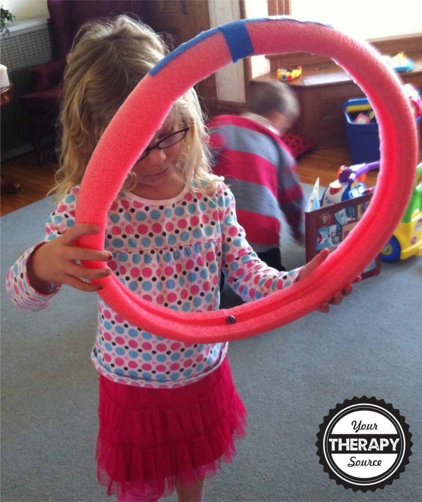 Visual tracking pool noodle