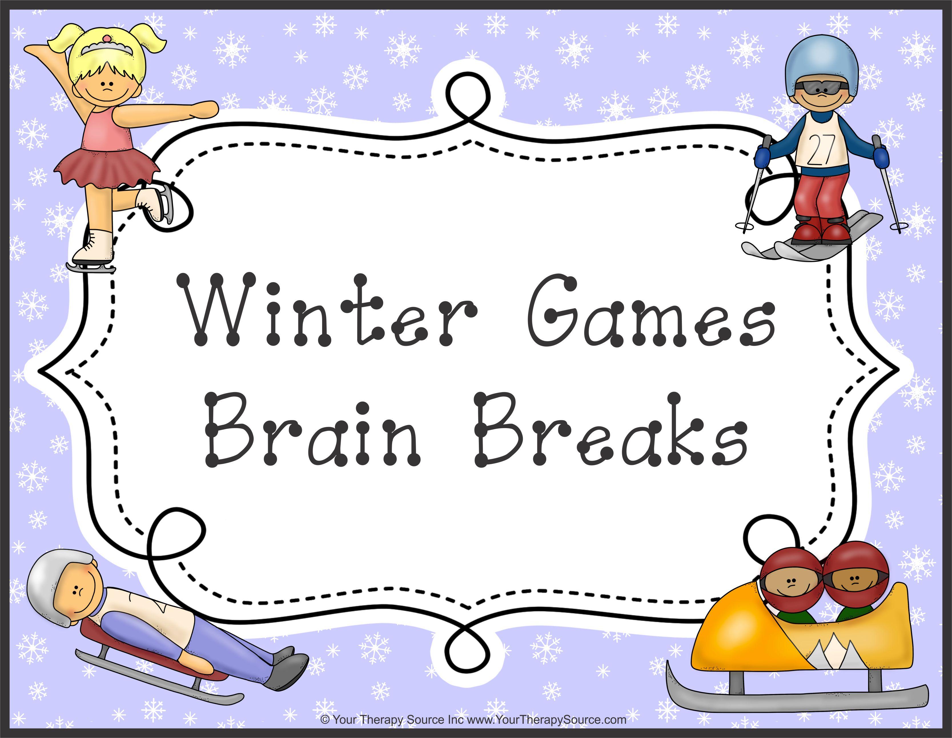Winter Olympic Games Brain Breaks