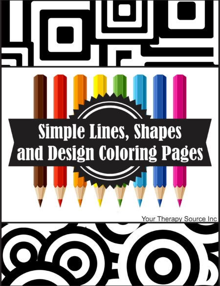 simple lines shapes and design coloring pages