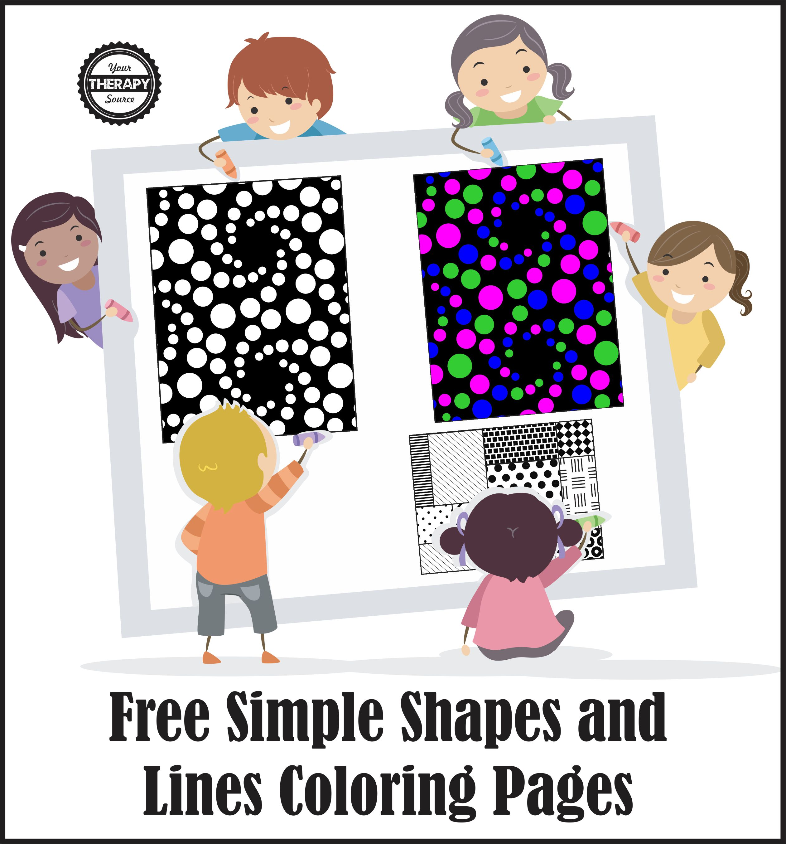 simple lines, shapes and design coloring pages freebie - your ... - Simple Therapeutic Coloring Pages