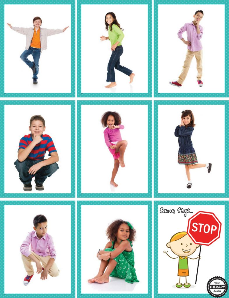 Simon Says - Body Awareness and Motor Planning Activity