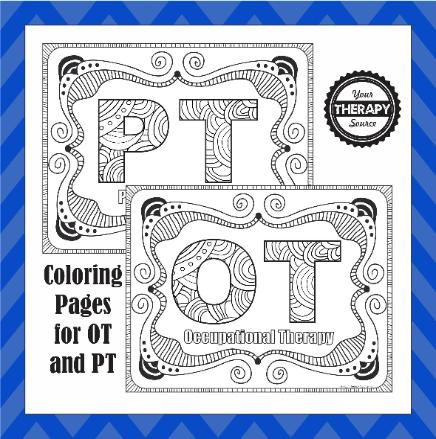 OT and PT Coloring Pages - Your Therapy Source