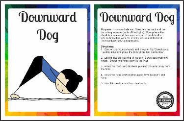 Downward Dog Yoga Pose Card