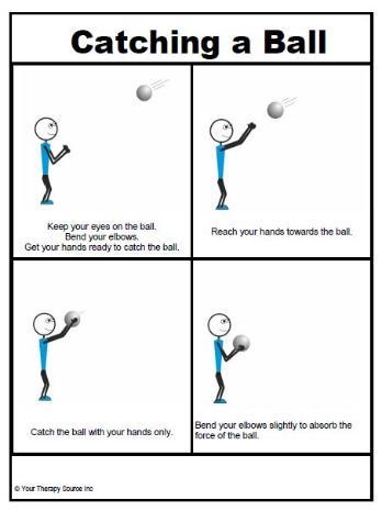 teaching preschooler how to catch a ball