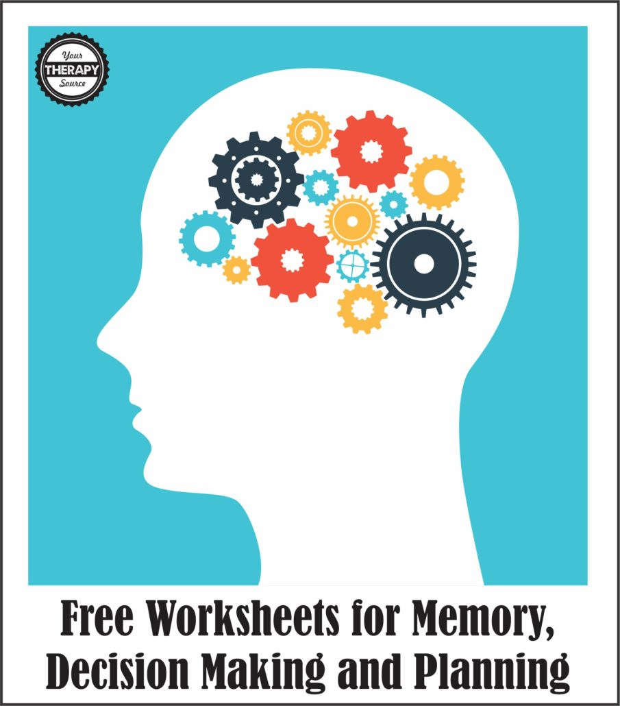 Free Worksheets for Memory, Decision Making and Planning