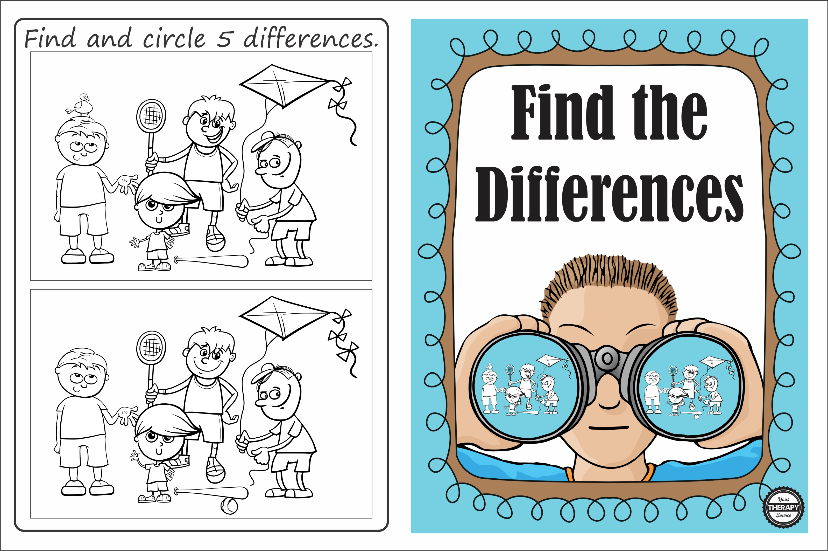 Find The Differences Visual Discrimination Puzzle Your