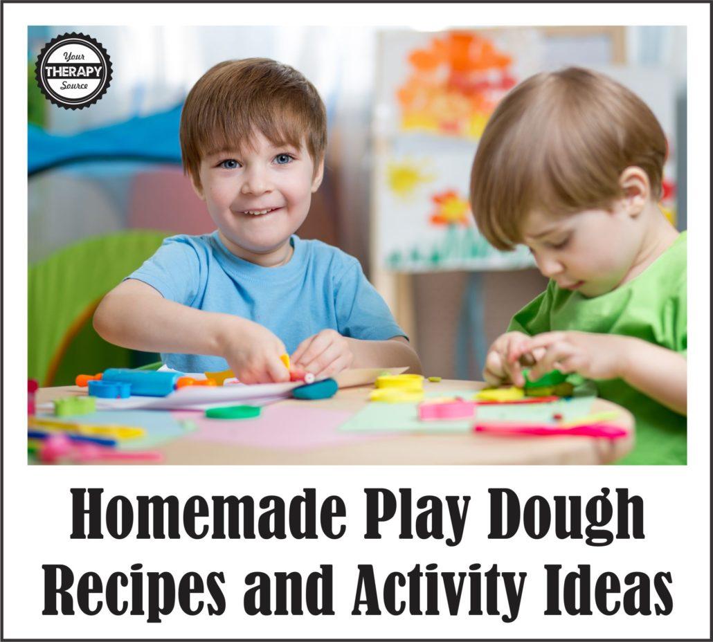 Homemade Play Dough Recipes and Activity Ideas