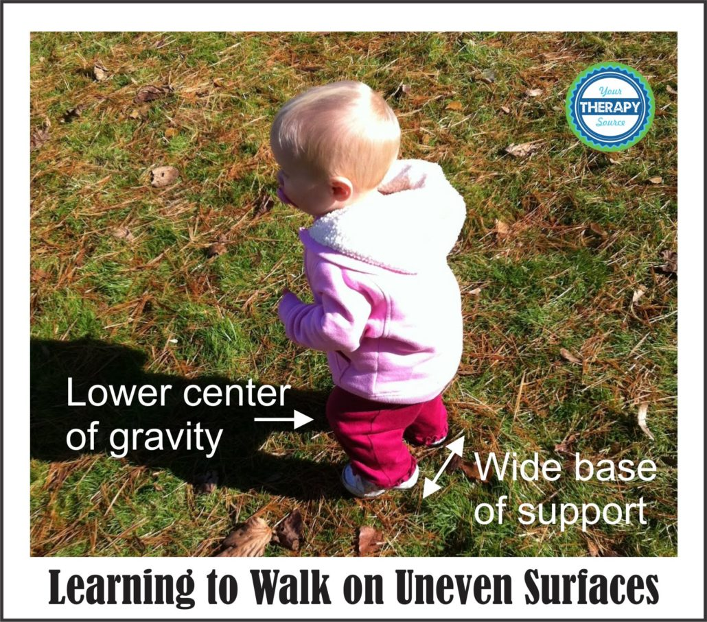 Learning to walk on uneven surfaces