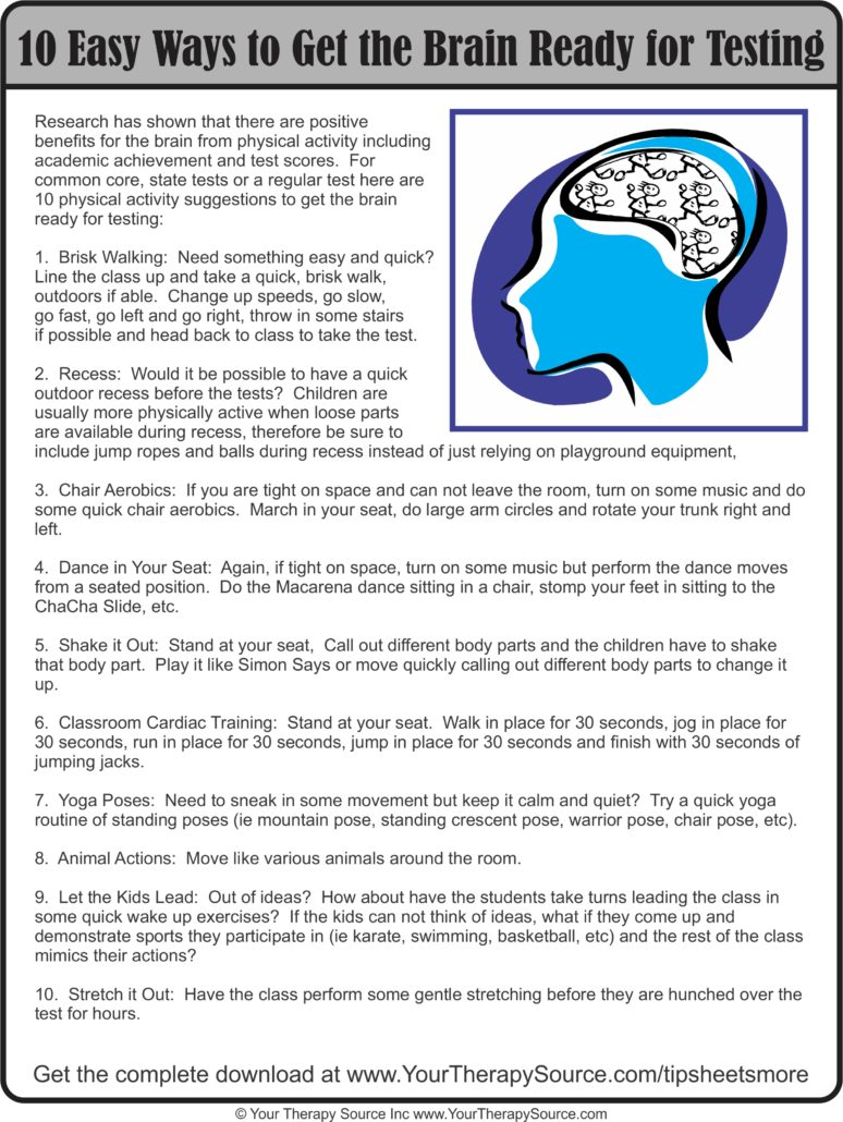 10 Ways to Get the Brain Ready for Testing