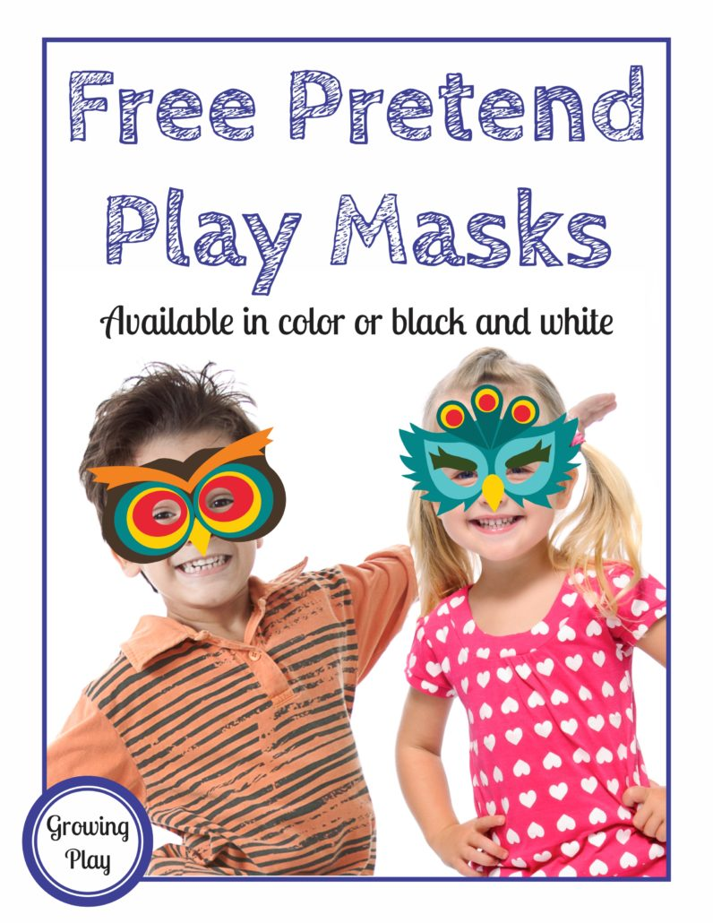 Pretend Play Masks Freebie