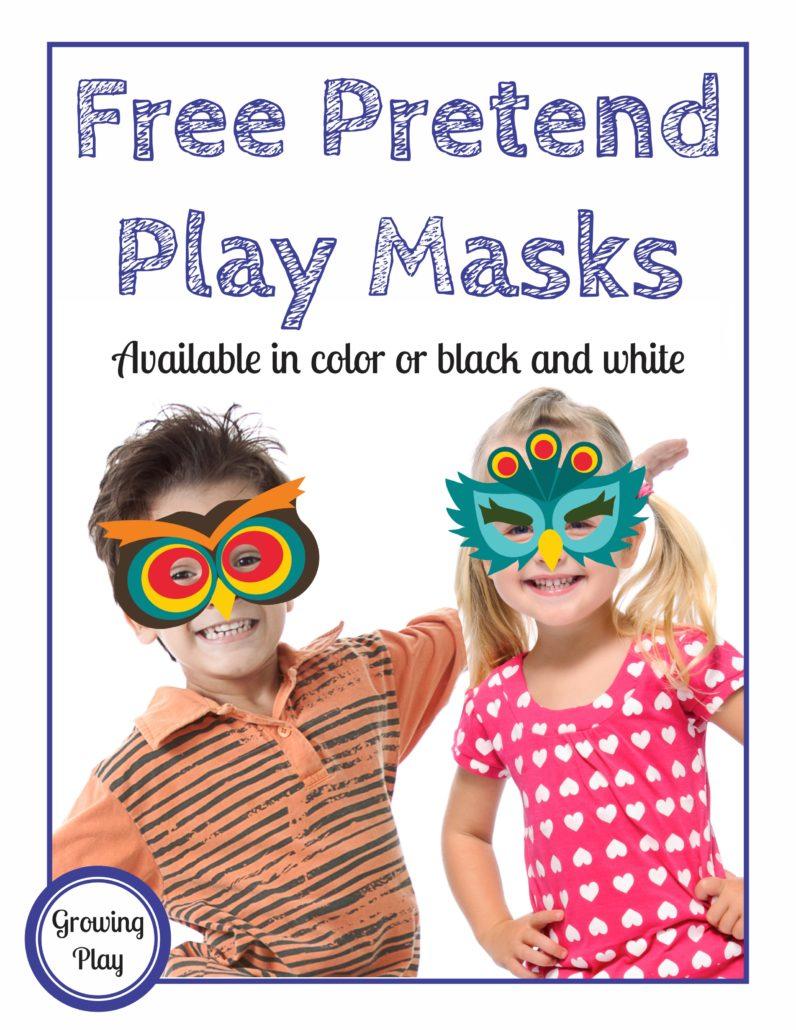 Pretend Play Masks Freebie