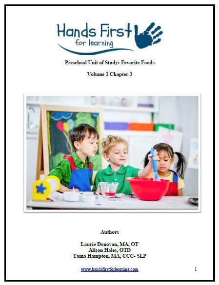 Hands First Favorite Foods Preschool Unit