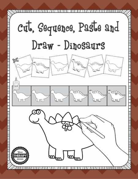 Cut Sequence Paste Dinosaurs cover