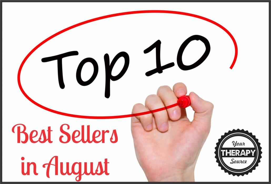 top 10 sellers August 2016