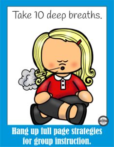 Calming Strategies Suggested Uses Posters