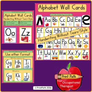 Handwriting Bundle Wall Cards YTS