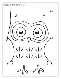 Owl Connect Dots 1-10