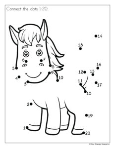 Horse Connect Dots 1-20