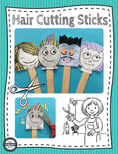 Hair Cutting Sticks Scissor Skills