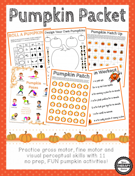 Pumpkin Packet - Your Therapy Source