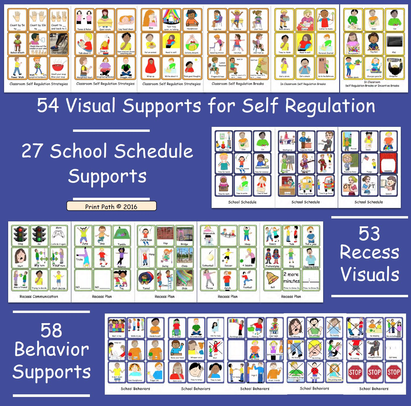 Visual Supports Schedules Self Regulation Classroom Inclusion Your Therapy Source