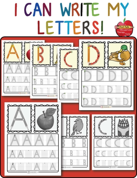 Created by school-based Occupational Therapist, Thia Triggs, this Preschool Handwriting digital download has been updated and is packed full of developmentally appropriate learning opportunities!