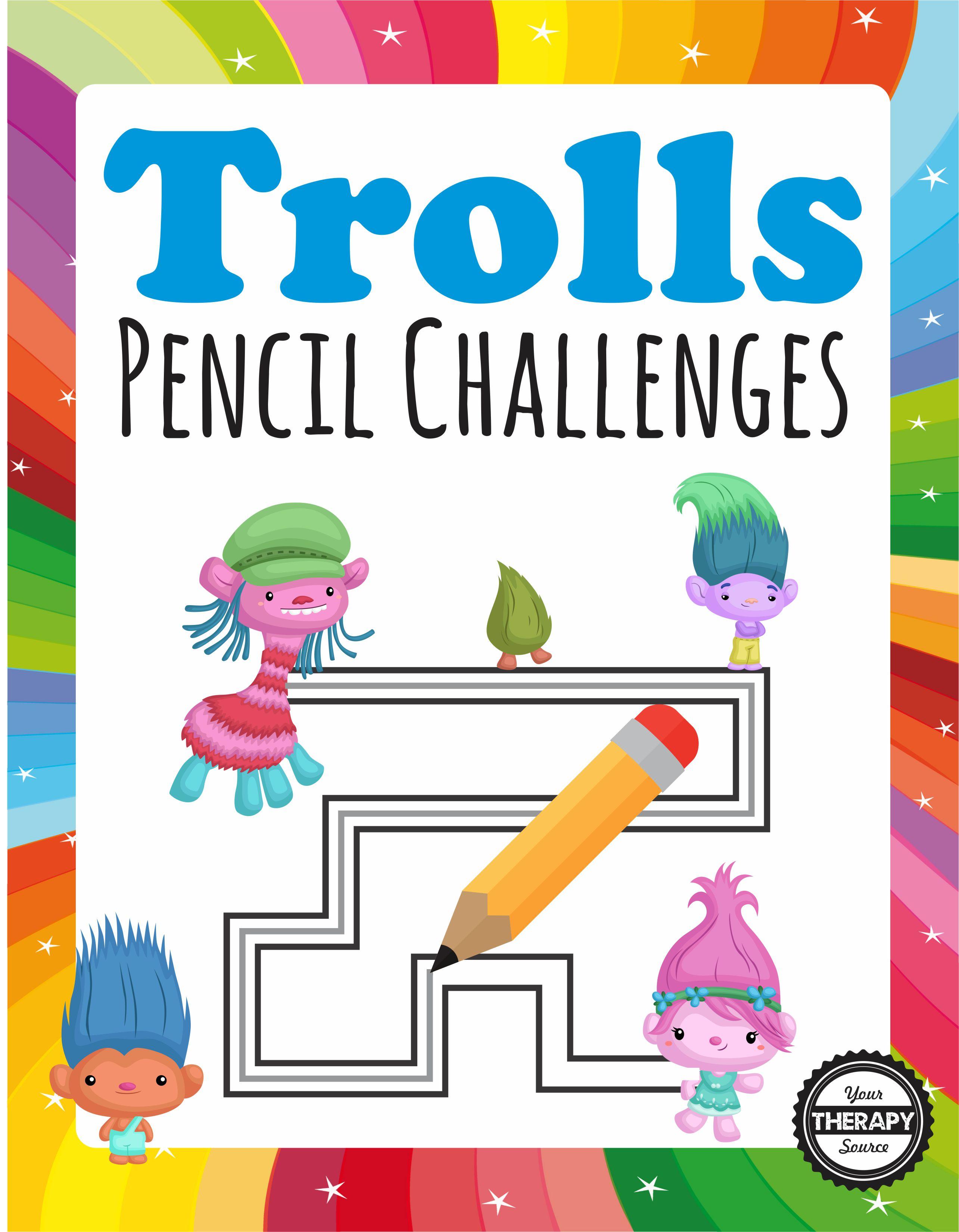 Trolls Pencil Challenges