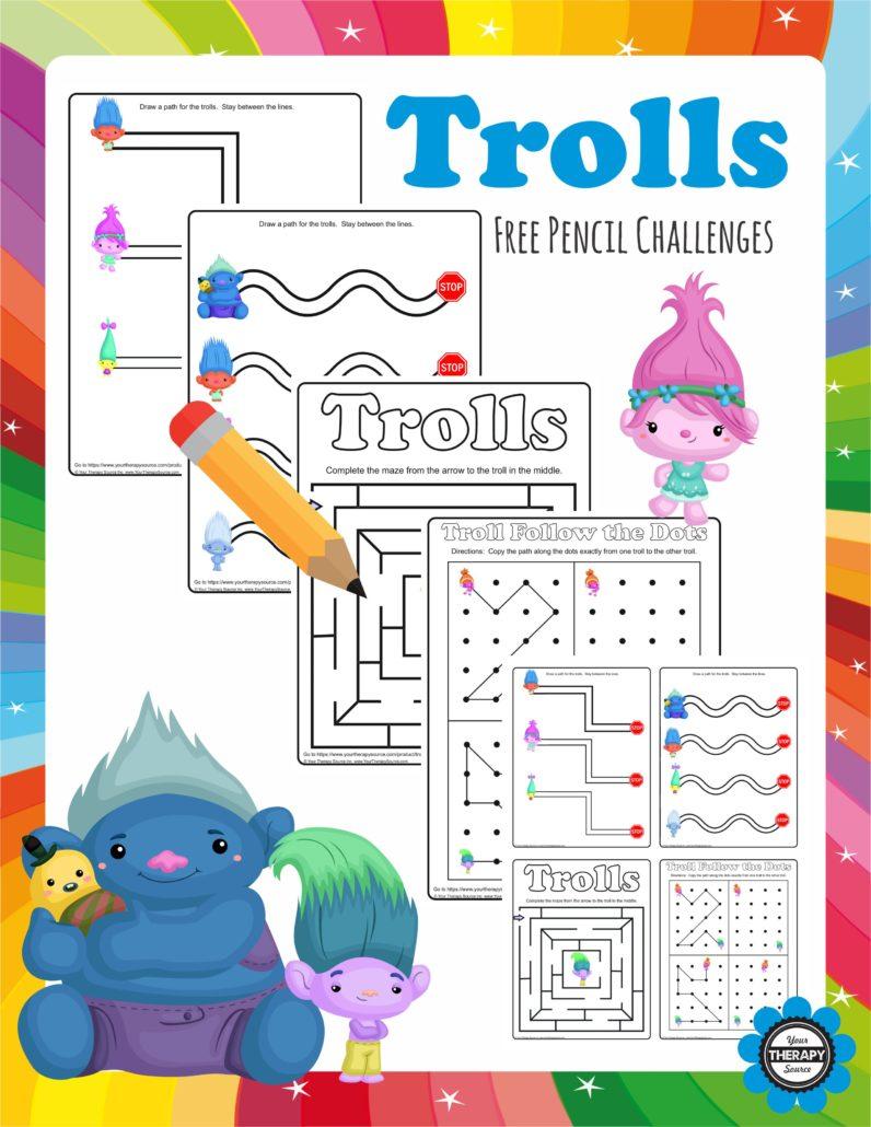 Trolls Pencil Free