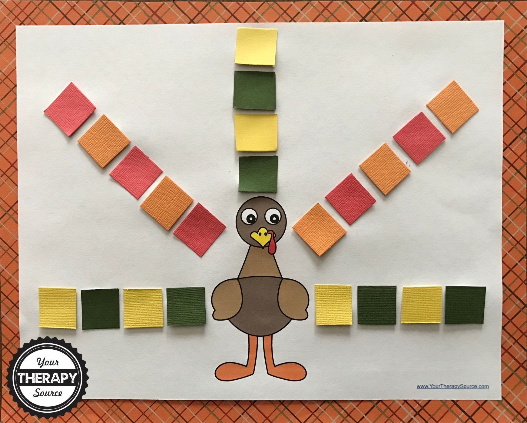 Turkey Squares Craft Project Your Therapy Source