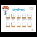 Skydivers handwriting Heroes