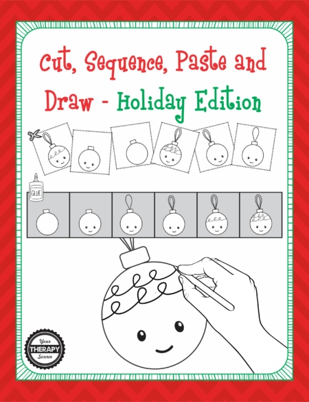 Cut, Sequence, Paste and Draw Holiday Edition