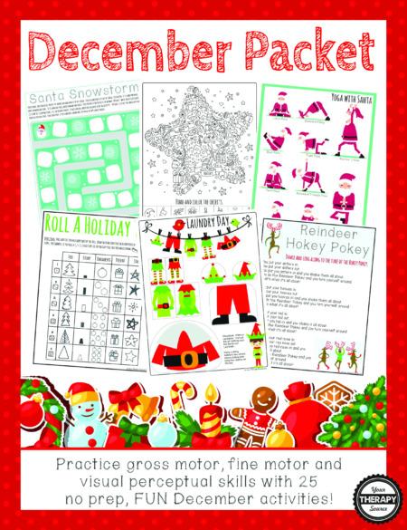 December Sensory Motor Packet