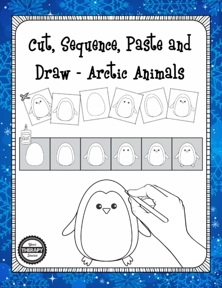cut-sequence-paste-and-draw-artic-animals