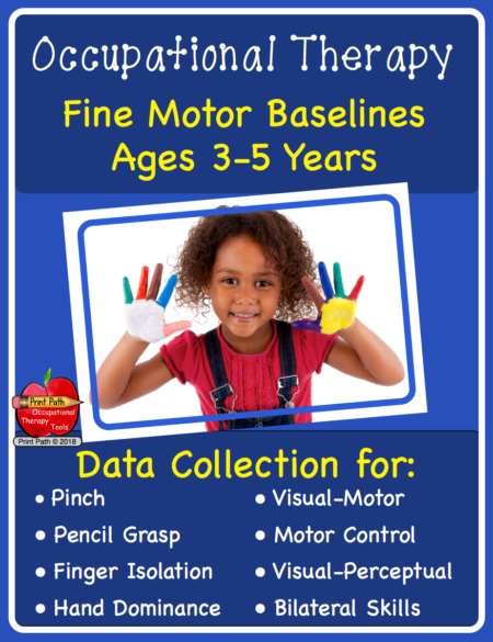 Occupational Therapy – Fine Motor Baselines Ages 3-5 Digital Download