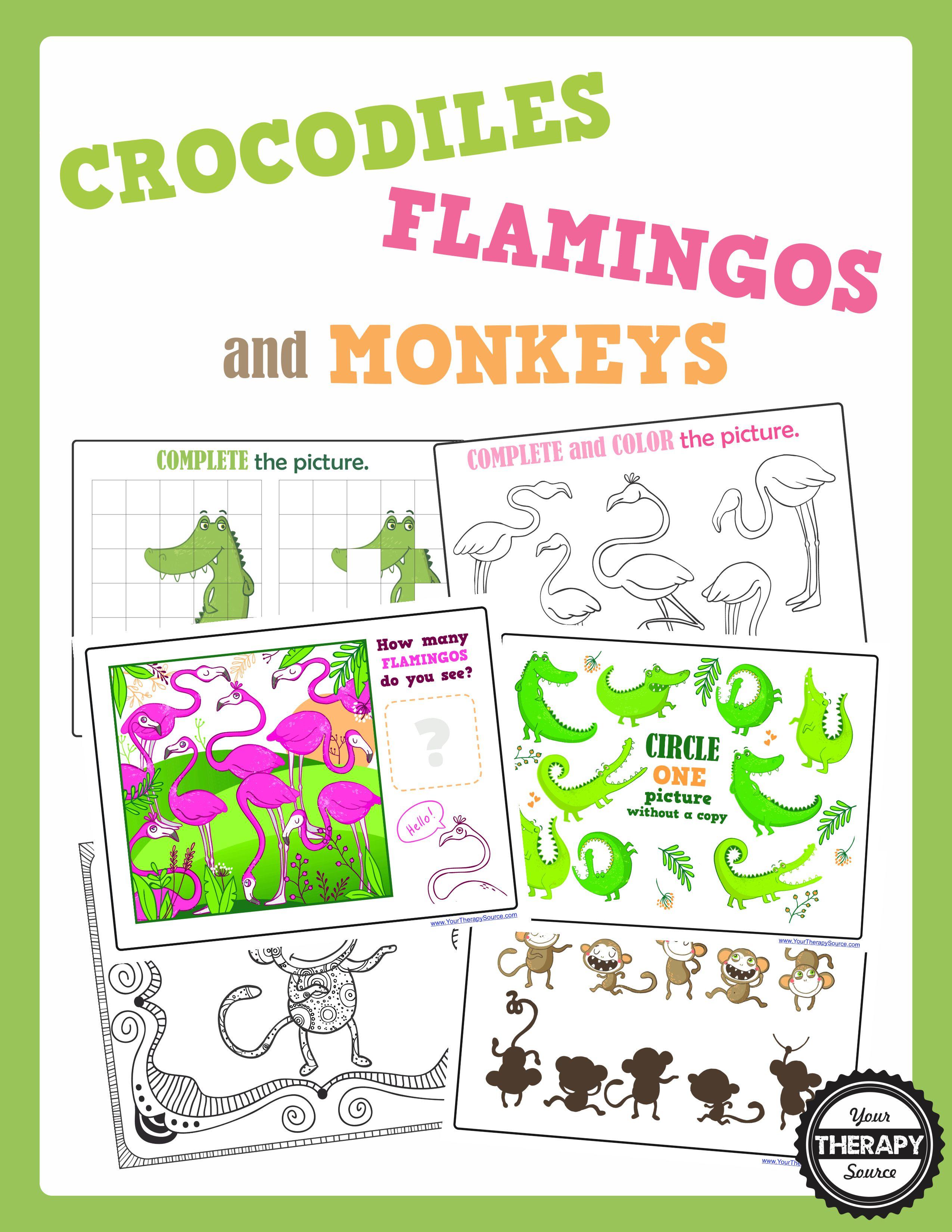 Crocodiles, Flamingos and Monkeys