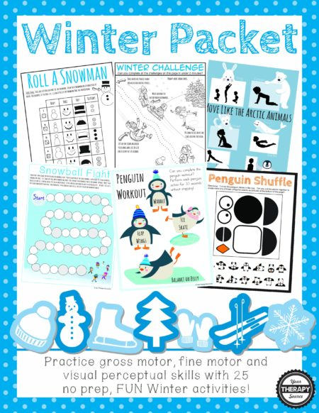 Winter Sensory Motor Packet