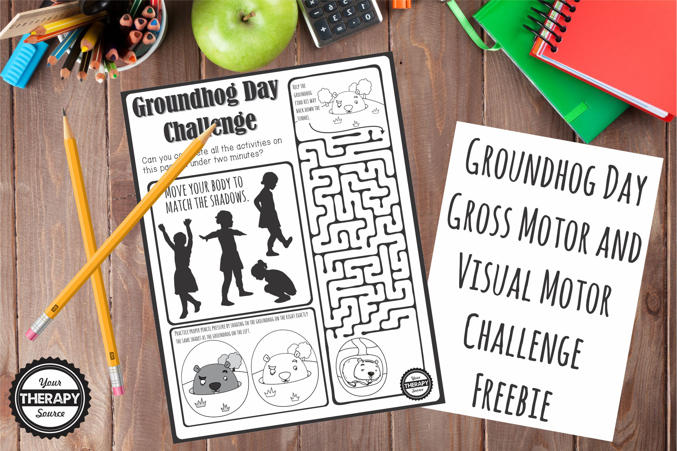 Apple physical therapy - Groundhog Day Visual Gross Motor Challenge