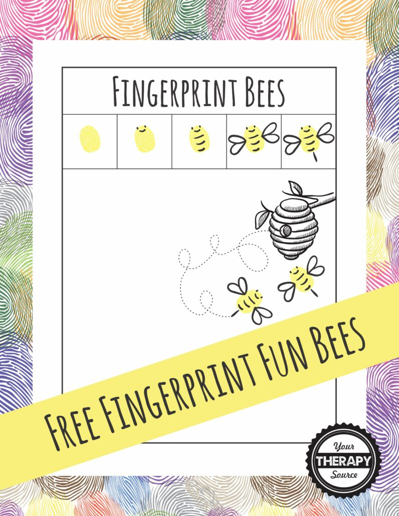 Fingerprint Fun Bees Freebie