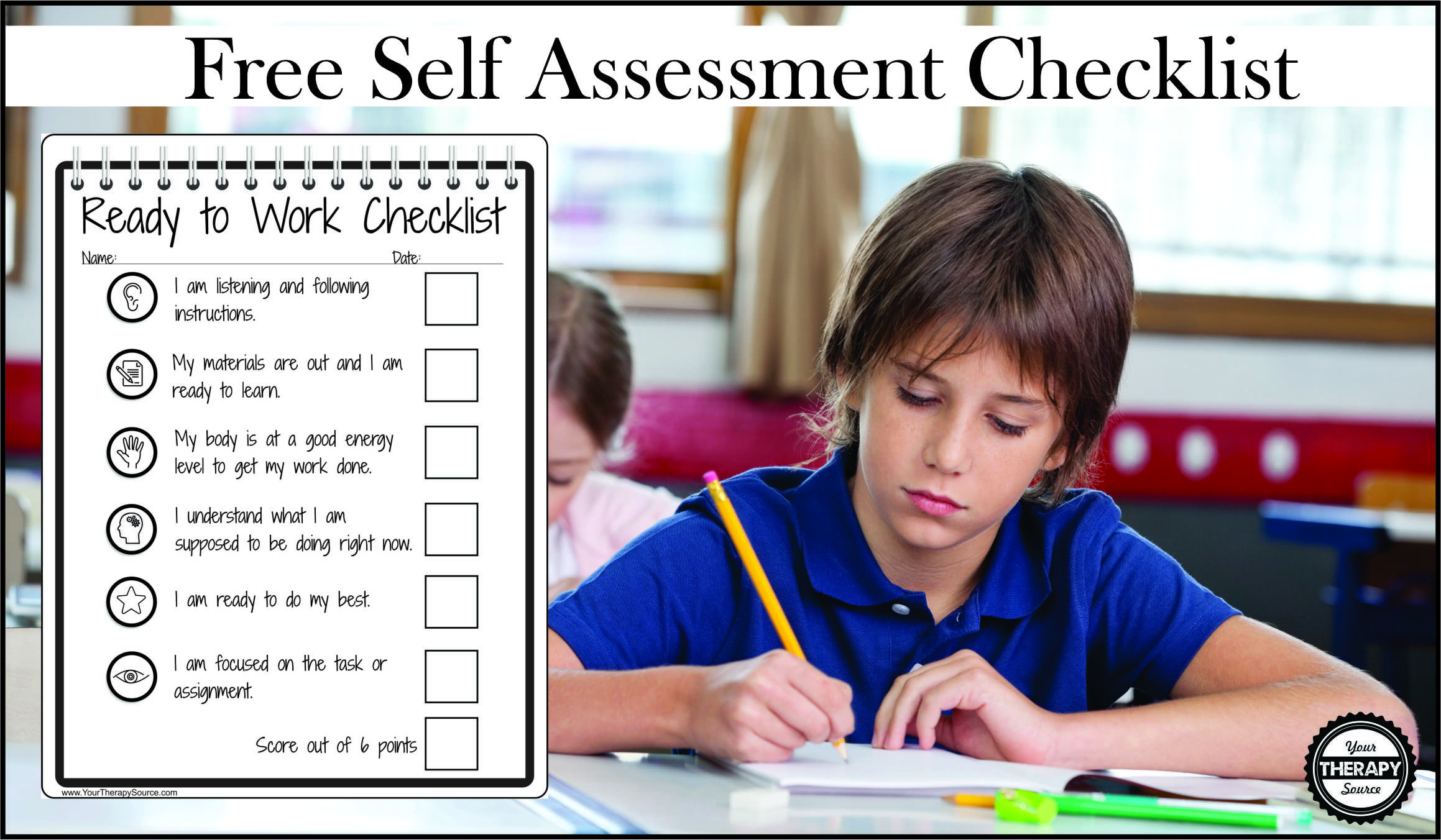 Are you looking to encourage students to improve self-regulation and maintain classroom expectations?  This free self-regulation checklist will help students