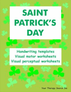 St Patricks Day Handwriting