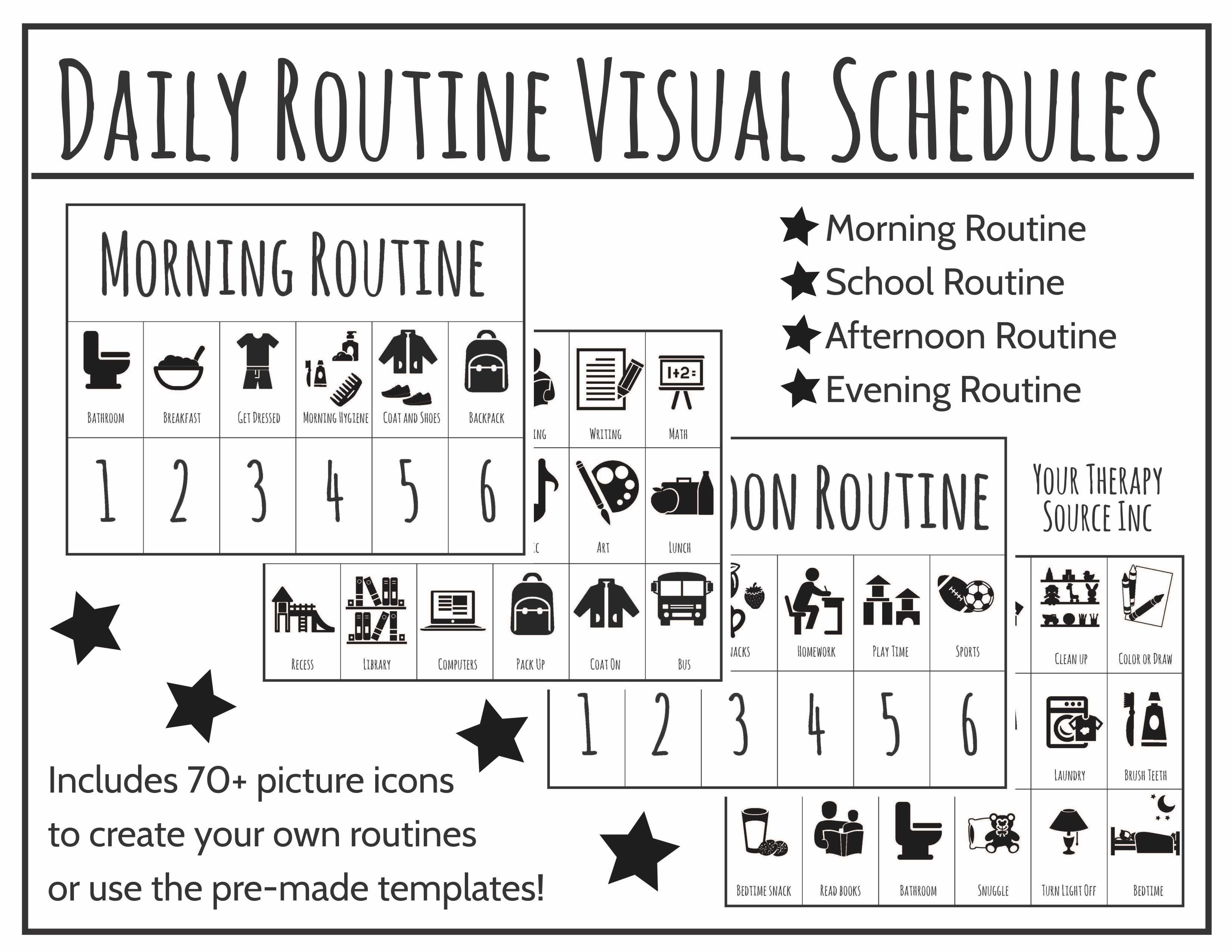 Daily Routine Visual Schedules Your Therapy Source