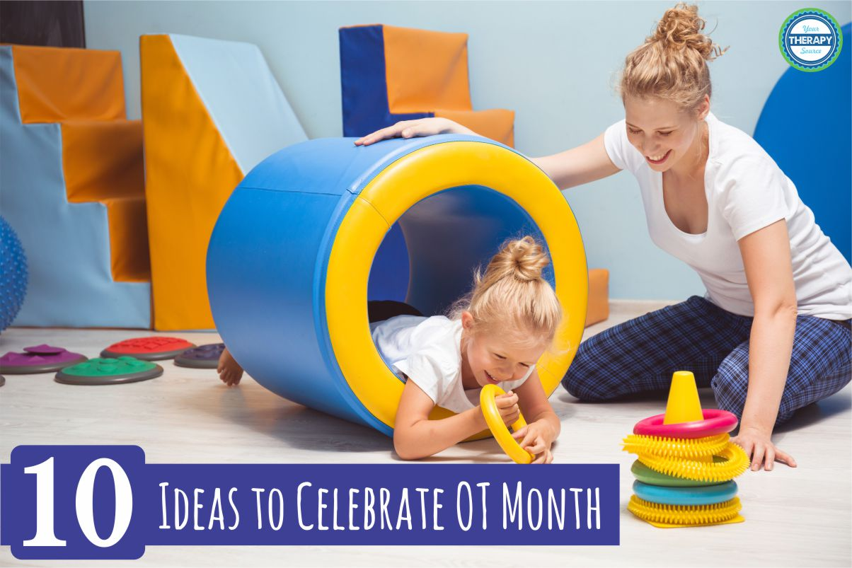 Here are 10 ideas for April to celebrate OT month 2020. If you have no time to prepare anything just print out a few signs and hang them up in your school or practice