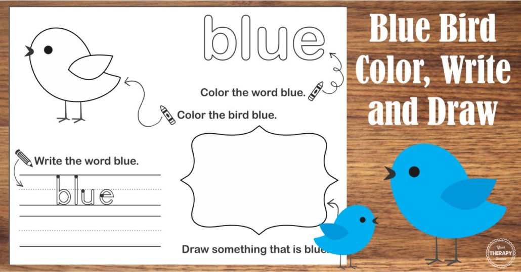 Bird Color Packet Blue Bird Freebie Picture FB