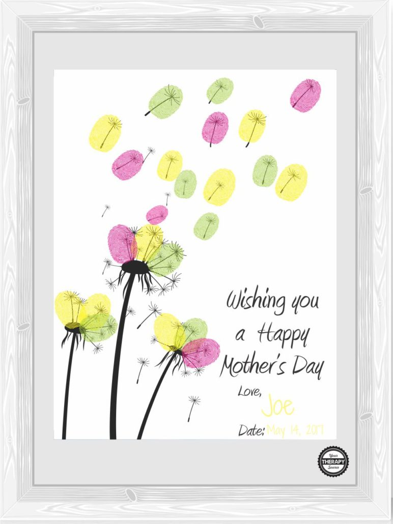 Wishing You A Happy Mother S Day Fingerprint Craft Your Therapy Source