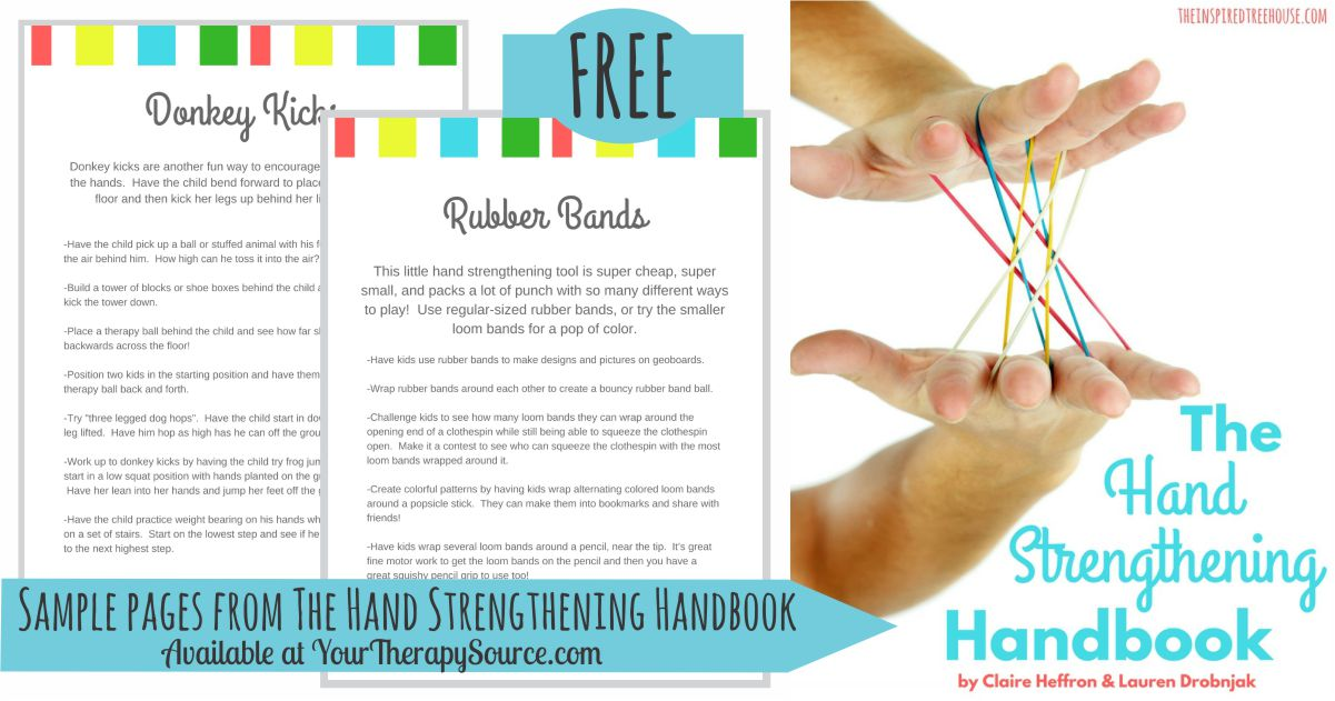 Fun Ideas For Hand Strengthening Activities For Kids