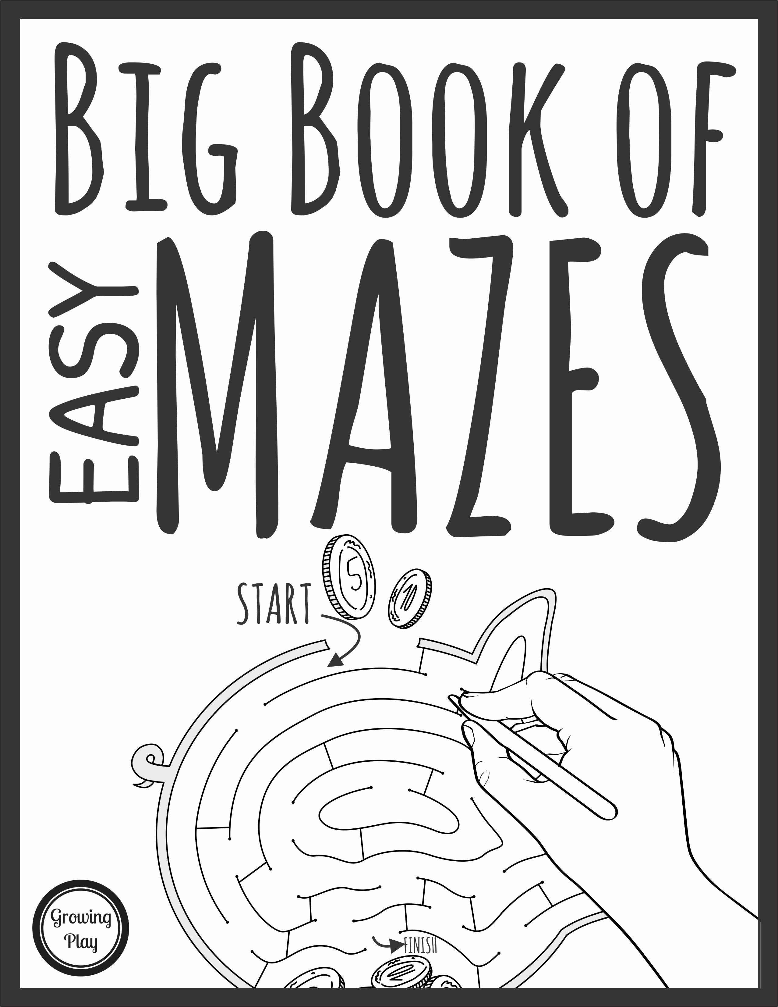 Big Book Of Easy Mazes Your Therapy Source