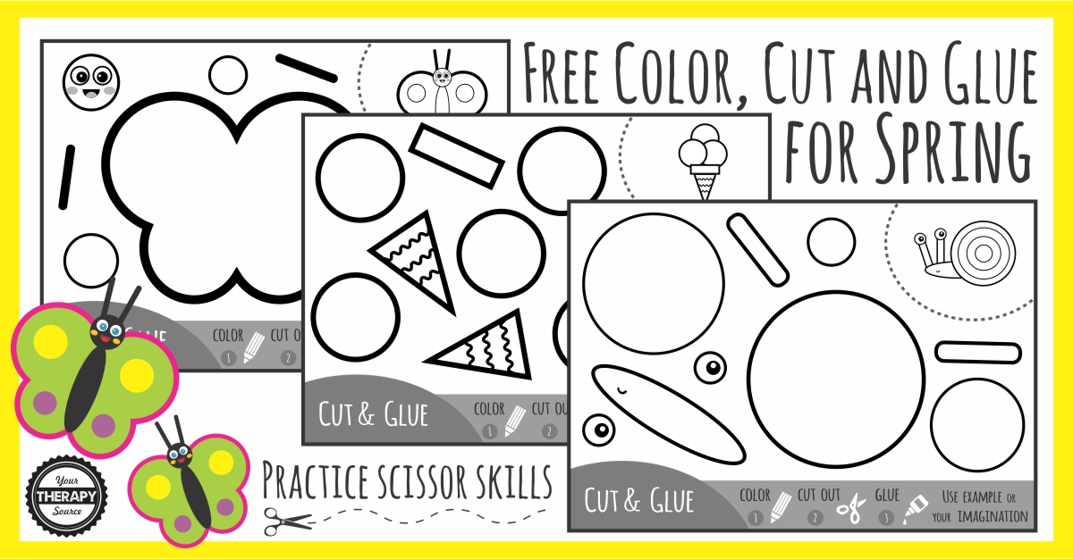 Spring Cut And Paste Practice Scissor Skills - Your Therapy Source