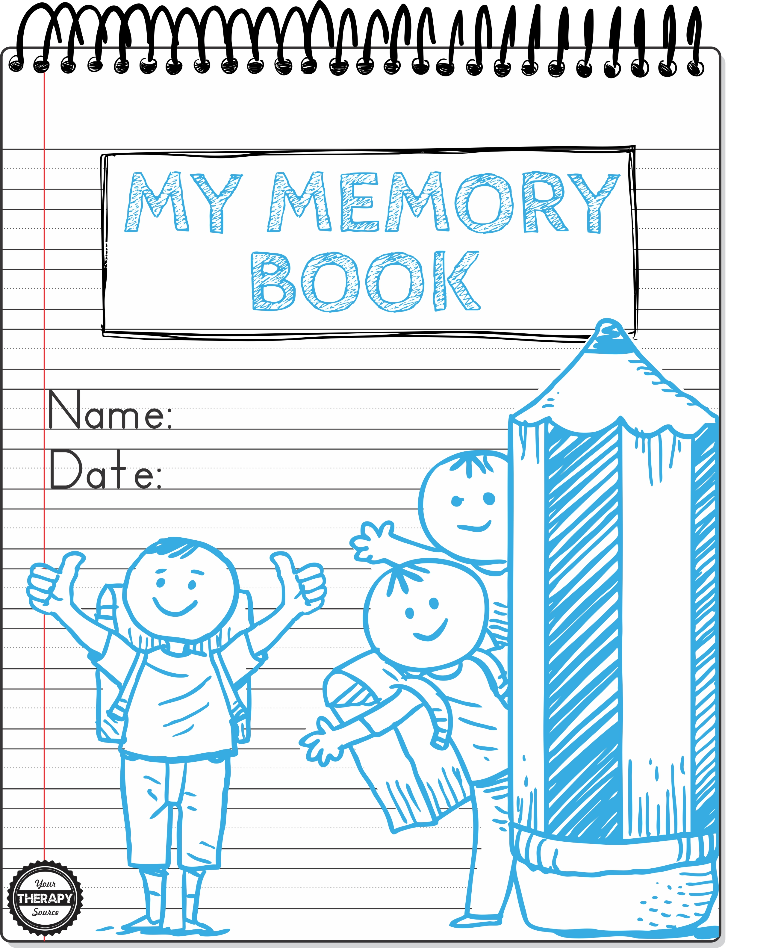 My Memory Book Handwriting Drawing Practice Title